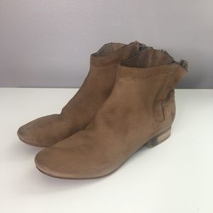 Sam Edelman Natural Cody Zip Leather Ankle Boots